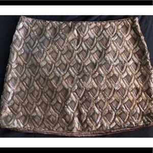 Gold sequin skirt size L